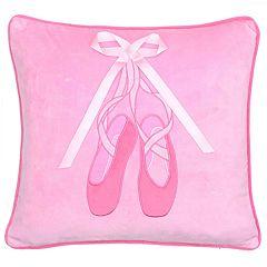 Zoey Ballerina Bow Throw Pillow