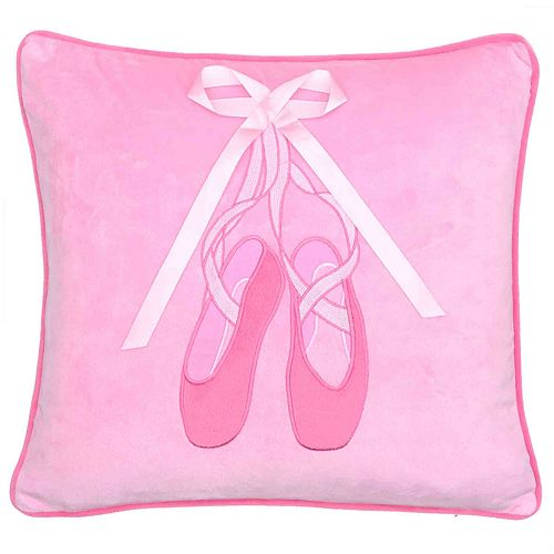 Zoey Ballerina Bow Throw Pillow