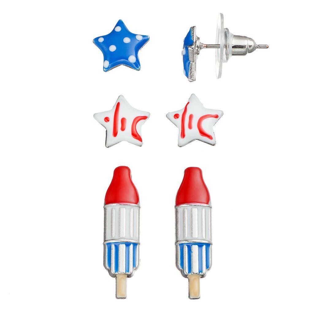Star & Popsicle Earring Set