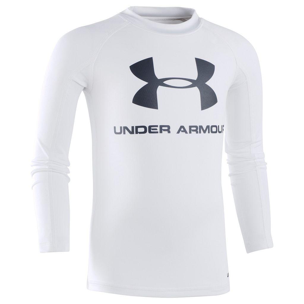 Boys 4-7 Under Armour Long-Sleeve Logo Rashguard