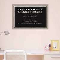 Amanti Art Silver Finish Liquid Chalkboard Wall Decor