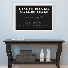 Amanti Art White Framed Liquid Chalkboard Wall Decor