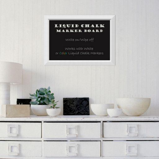 Amanti Art White Framed Liquid Chalkboard Wall Decor