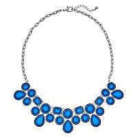 Blue Geometric Statement Necklace