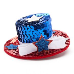Sequined Uncle Sam Hat Hair Clip