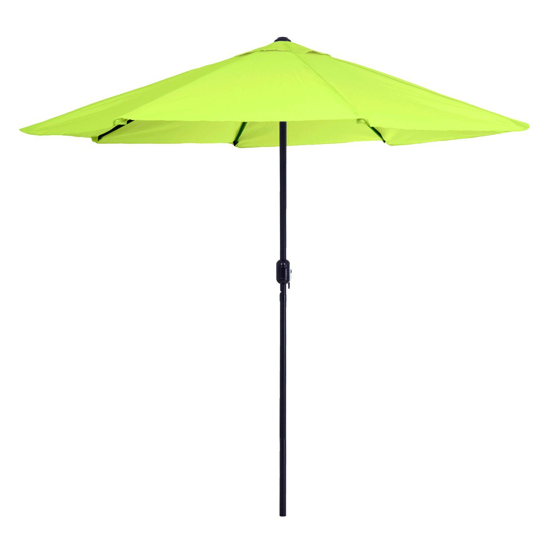 Outdoor Patio Umbrella. Orange Green