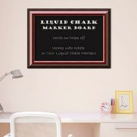 Amanti Art Cambridge Mahogany Finish Framed Liquid Chalkboard Wall Decor