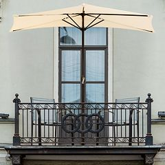 Navarro 9-ft. Half-Round Outdoor Patio Umbrella