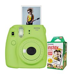 Fujifilm Instax Mini 9 Instant Camera Bundle with 20 Exposure Film
