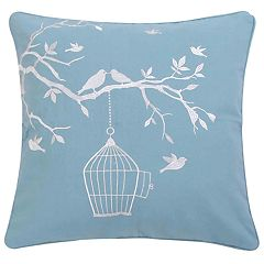 Aarthi Bird and Cage Throw Pillow