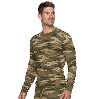 Big & Tall Croft & Barrow® Classic-Fit Camo Thermal Crewneck Tee