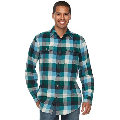 48c83e7c Big & Tall SONOMA Goods for Life™ Supersoft Stretch Flannel Shirt