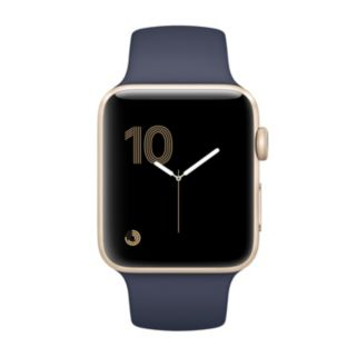 Apple Watch Series 2 (38mm Gold Tone Aluminum with Midnight Blue Sport Band)