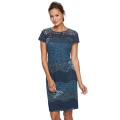 Women's Scarlett Tonal Lace Shift Dress