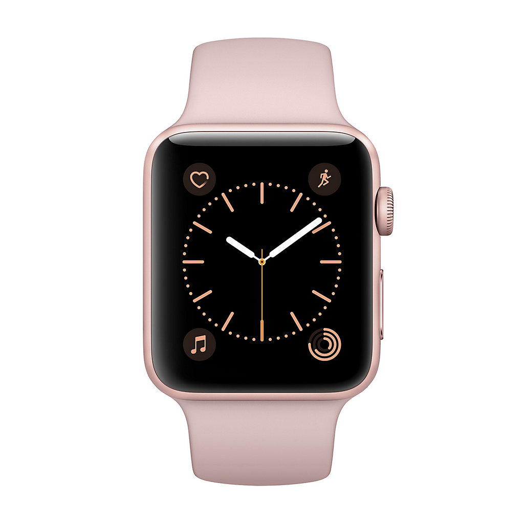 Apple Watch Series 2 (42mm Rose Gold Tone Aluminum with Pink Sand Sport Band)