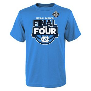 Boys 8-20 North Carolina Tar Heels 2017 Men's Basketball Final Four Desert Four Tee