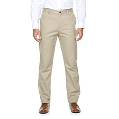Big & Tall Croft & Barrow® Classic-Fit Essential Khaki Flat-Front Pants