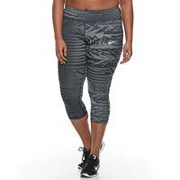 Plus Size Nike Power Essential Running Capri Leggings