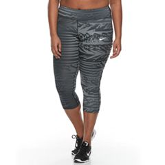 Plus Size Nike Power Essential Running Capri Leggings