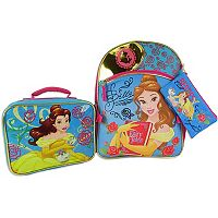 Disney's Beauty and the Beast Belle Kids Backpack & Lunch Box Set