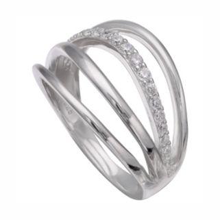 PRIMROSE Sterling Silver Cubic Zirconia Openwork Ring