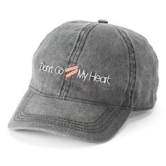 Women's SO® Embroidered 'Don't Go Bacon My Heart' Baseball Cap