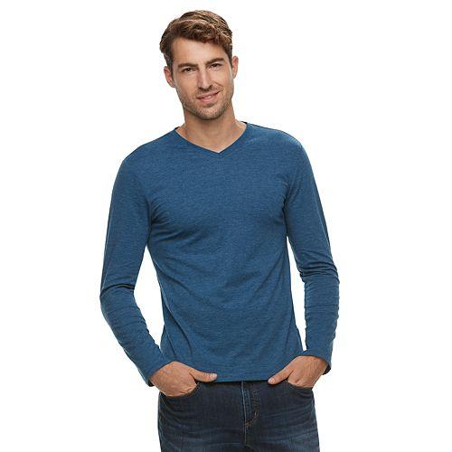 Men's Apt. 9® Premier Flex Modern-Fit Solid V-neck Tee