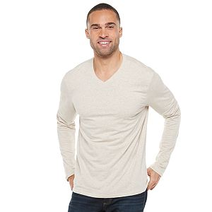 Men's Apt. 9 Premier Flex Modern-Fit Solid V-neck Tee