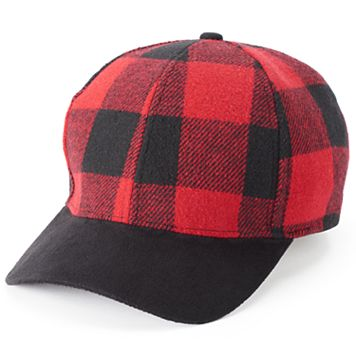 Women's SO® Buffalo Plaid Baseball Cap