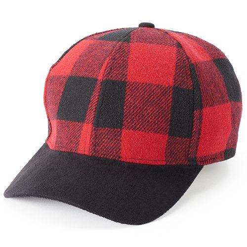 Women's SO® Buffalo Plaid Baseball Cap