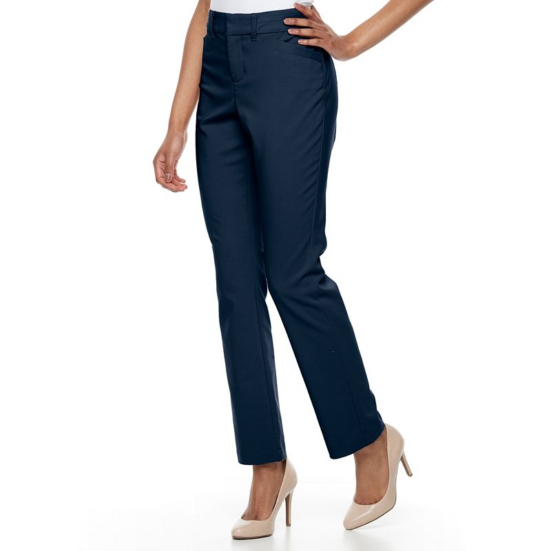 33423f4cf1237 This review is from Women's Gloria Vanderbilt Haven Microtech Straight-Leg  Dress Pants.