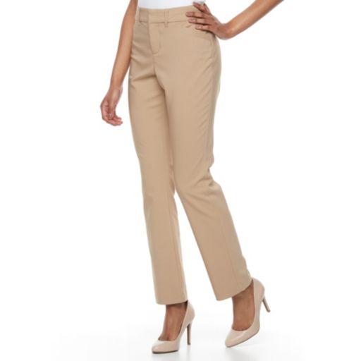 Women's Gloria Vanderbilt Haven Microtech Straight-Leg Dress Pants