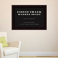 Amanti Art Portico Espresso Framed Liquid Chalkboard Wall Decor