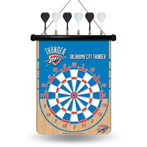 Oklahoma City Thunder Magnetic Dart Board