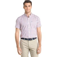 Men's IZOD Advantage Classic-Fit Plaid Stretch Performance Button-Down Shirt