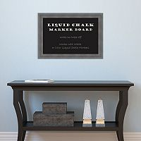 Amanti Art Dixie Gray Rustic Framed Liquid Chalkboard Wall Decor