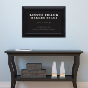 Amanti Art Black Finish Framed Liquid Chalkboard Wall Decor