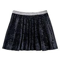 Girls 7-16 & Plus Size SO® Metallic Crushed Velvet Circle Skirt