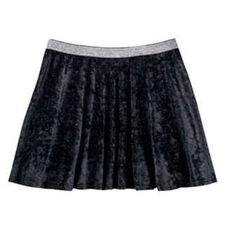 Girls 7-16 & Plus Size SO® Metallic Crushed Velvet Circle Skirt