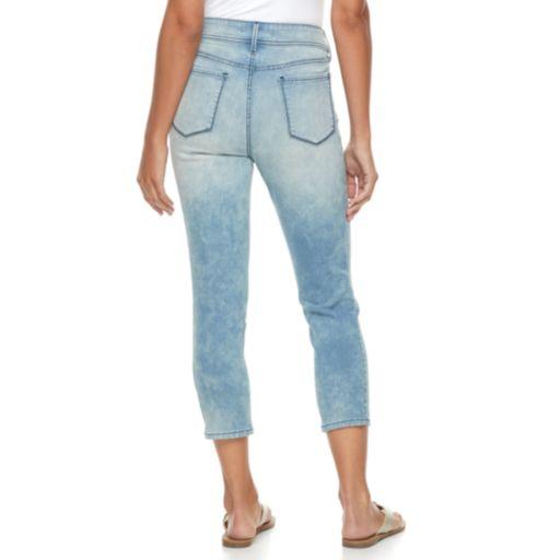 Petite Apt. 9® Distressed Straight-Leg Crop Jeans