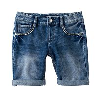 Girls 7-16 Vanilla Star Bling Pocket Bermuda Jean Shorts