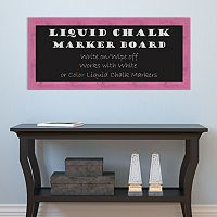 Amanti Art Rustic Framed Liquid Chalkboard Wall Decor