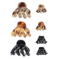 Mudd® Wavy Claw Hair Clip Set