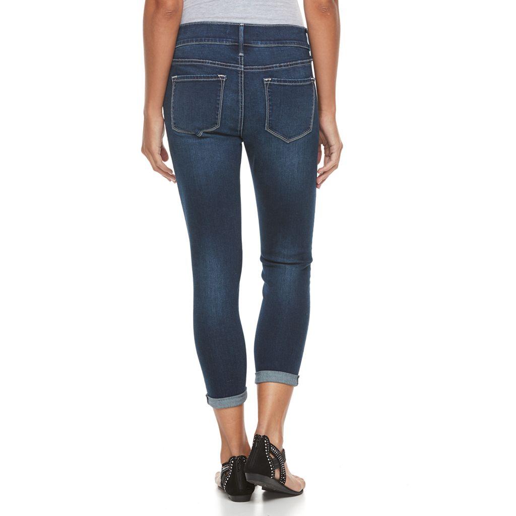 Petite Apt. 9® Modern Fit Distressed Skinny Capri Jeans