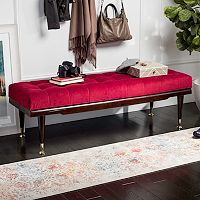 Safavieh Elita Velvet Bench