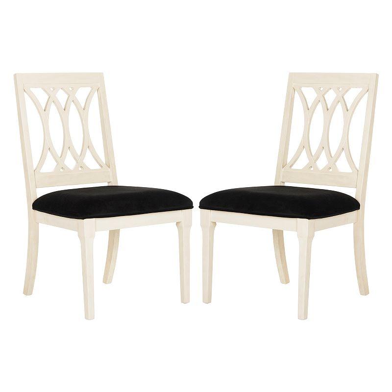 Safavieh Selena Velvet Dining Chair 2-piece Set. Blue