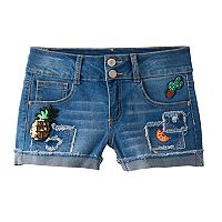 Girls 7-16 Vanilla Star Sequin Patch Jean Shorts