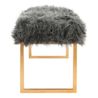 Safavieh Etta Faux Sheepskin Bench