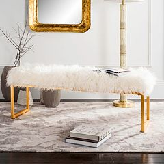 Safavieh Etta Faux Sheepskin Bench