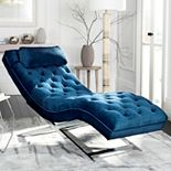 Safavieh Monroe Chaise Lounge Chair & Headrest Pillow 2-piece Set